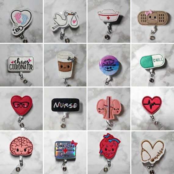 Badge Reel/Nurse Badge Reel/RN ID Badge Reel/Nursing Badge Reel/Retractable  ID Badge Holder/Nurse Gift/Nurses Week/Nursing Student