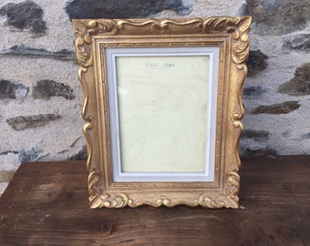 96ebd5dfc09 Gorgeous antique frame gilded wood moulding arabesques