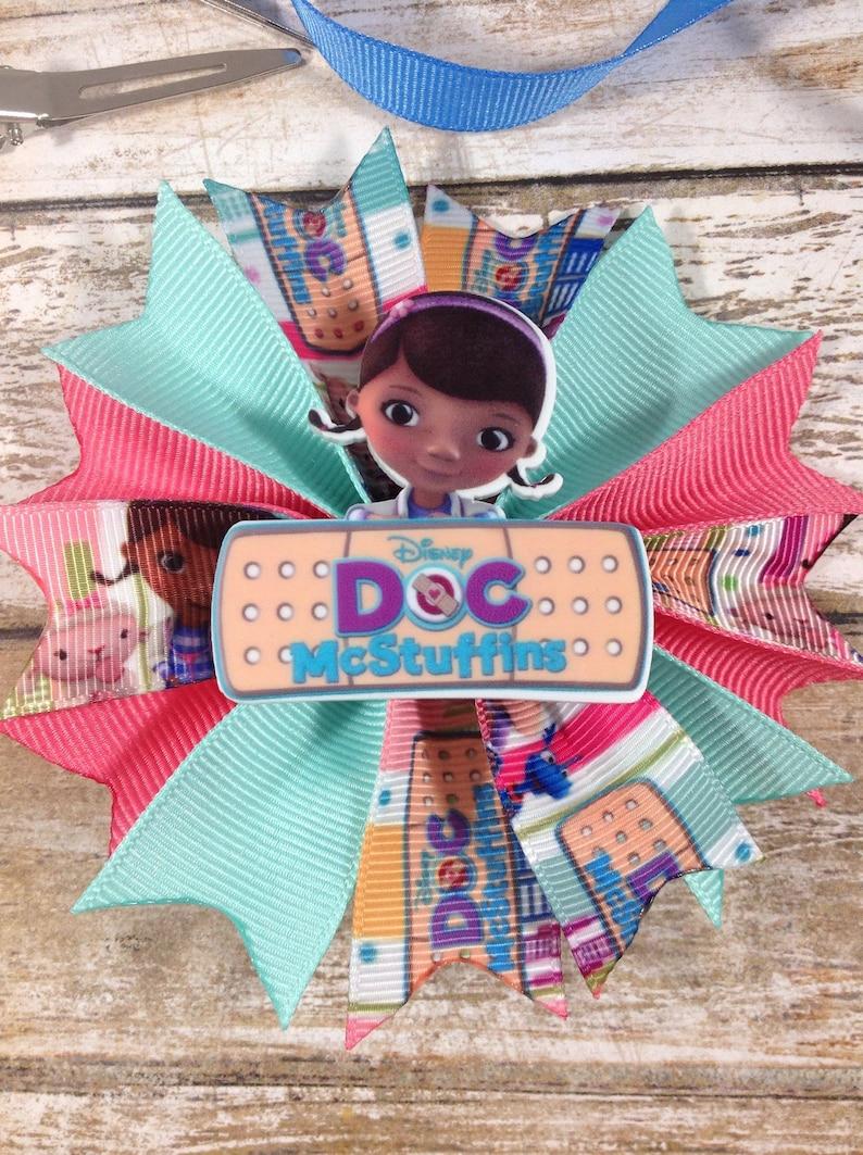Pink Doc Mcstuffins Boutique Bows Baby //Toddler//Girl Headbands