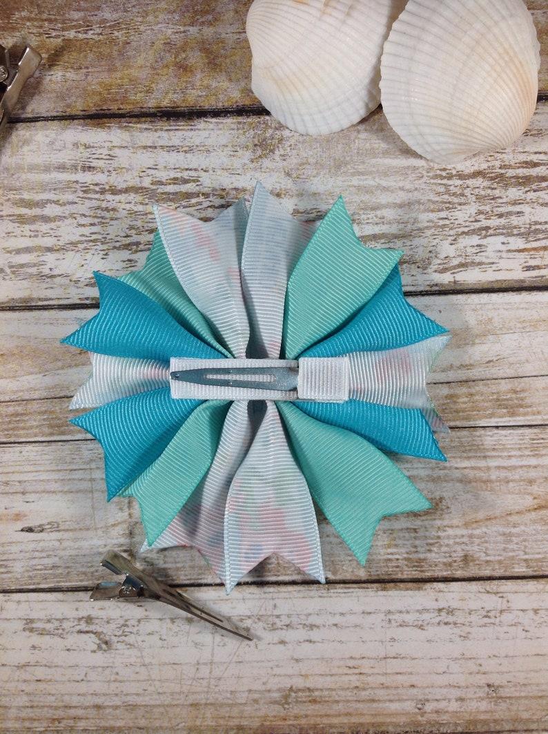 Summer Hair Bow Ariel-Inspired Hair Bow Swimming Hair Bow Mermaid Hair Bow Beach Hair Bow Spike Hair Bow