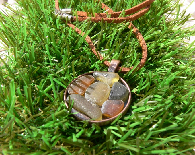 Seaglass Medal Necklace