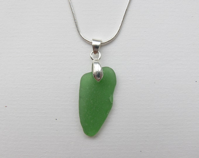 Spanish Green Seaglass Pendant
