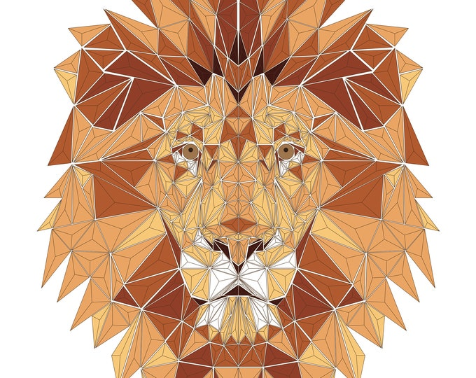 Geometric Lion Digital Print