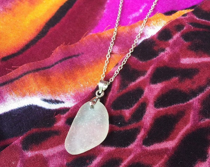 Featured listing image: White Seaglass Pendant