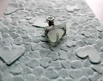 Heart Shaped Seaglass Pendent Handmade in Cornwall