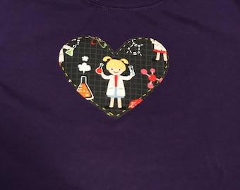 Girls Love Science Children's Shirt