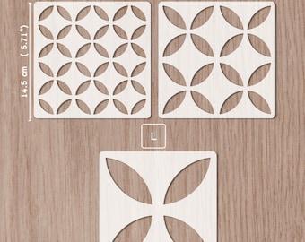 Tile stencil 14.5x 14.5 cm