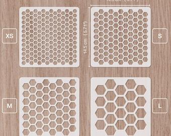 honeycomb stencil hexagon stencil