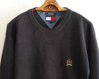 b50b7b89d5ec8 Carlo Colucci Rare Vintage Pullover M/L Black Grey Lion | Etsy