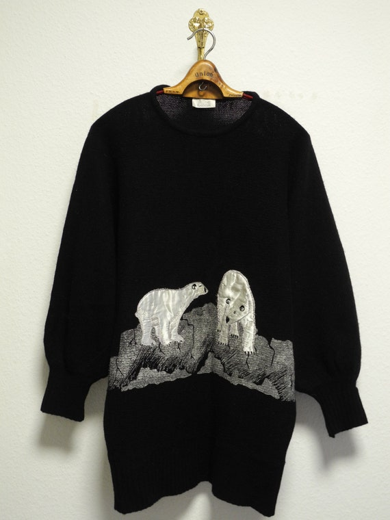 Alba Moda S/M/L Vintage Knitted Wool Mix Pullover