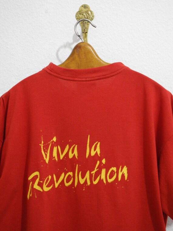 Megamatrix Viva Shirt Rare Che T Revolution Guevara 90s Marxism L XL La Red Yellow Marx EY7EUqrw