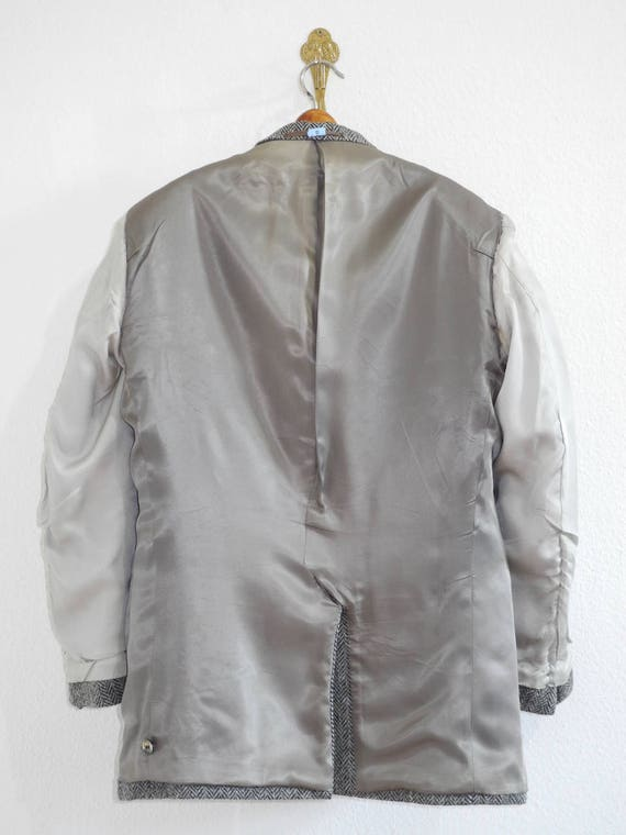 Heavy English Atelier Jacket Vintage Grey XL M Torino Lining Herringbone Tweed München L Silver YtqIt