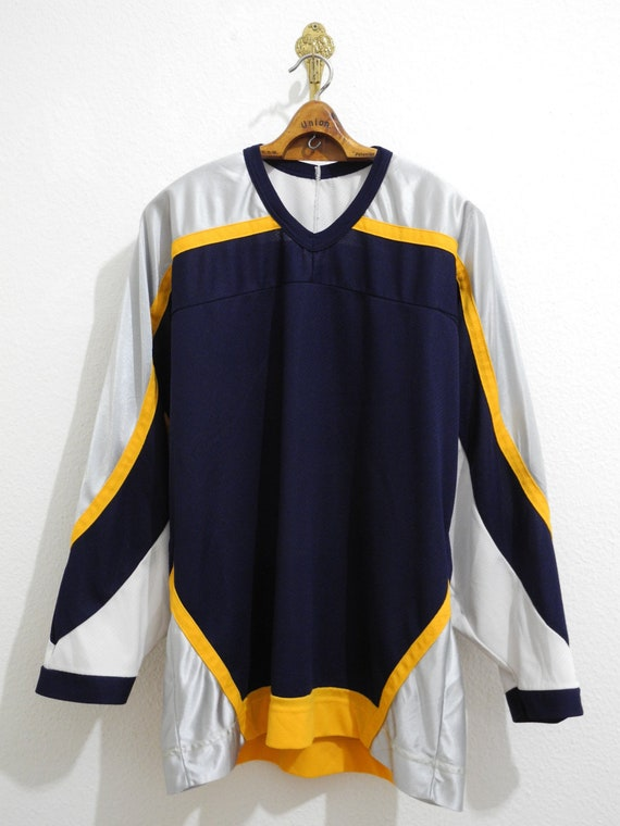 Canadian Vintage Hockey Mesh Jersey L/XL Blue Whit