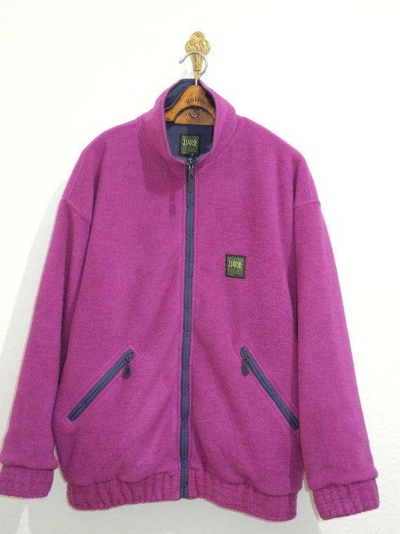 Pink Climbing Pink Fleece Polartec Skater Oversize Navy L Thinking Surfer Free Reversible 90S Think Vintage Jacket XL Swag Californian Rw0qqO