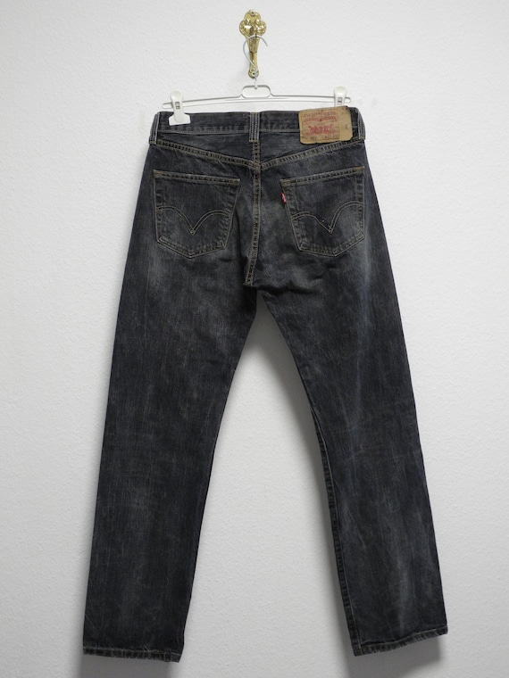 Levi's 501 Jeans 32/32 Black Washed Straight Denim