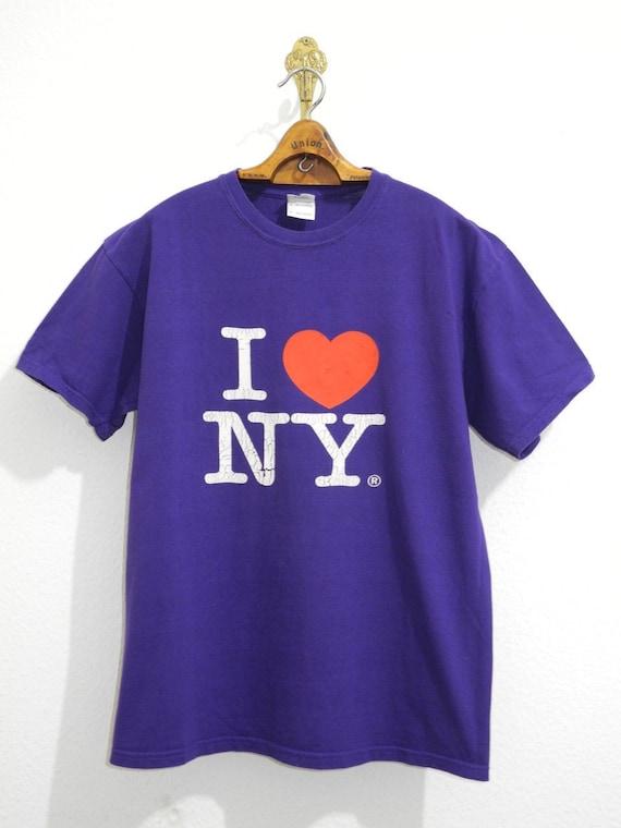I Love New York Vintage T-Shirt M/L Purple Lila Sk