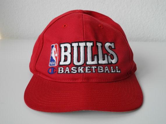 Chicago Bulls NBA X Champion Vintage 90s Red Snapb
