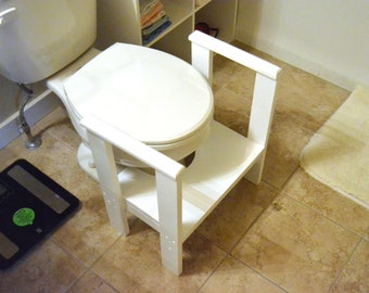 Wooden Toilet Stool, Bathroom Stool, Kids Stool, Kids Step up, Toilet Step, Bathroom aide, Commode step, Potty step, potty aide