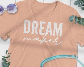 Dream Maker Tee, Statement Tee, Women's Vintage Graphic T-shirt, Retro Graphic Tshirt, Hippie Lover, Dreamer