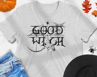 Good Witch Graphic Tee, Halloween T-shirt, Halloween Costume, Witchy Tee, Boho Halloween, Spooky Halloween Tee, Goth Halloween, Wiccan Magic