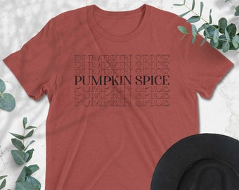 Pumpkin Spice Lettering Graphic Tee, Fall T-shirt, Women's Graphic Tee, Womens Graphic Tees, Fall Fashion, Pumpkin Spice Time