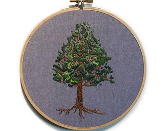 Handmade Tree Embroidery Hoop