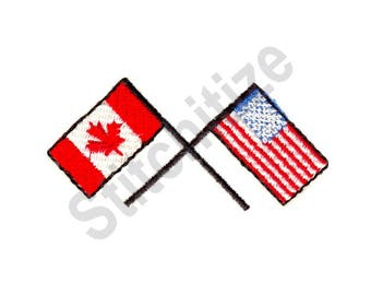 us and canadian flag etsy