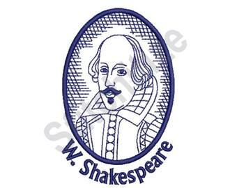 William Shakespeare - Machine Embroidery Design