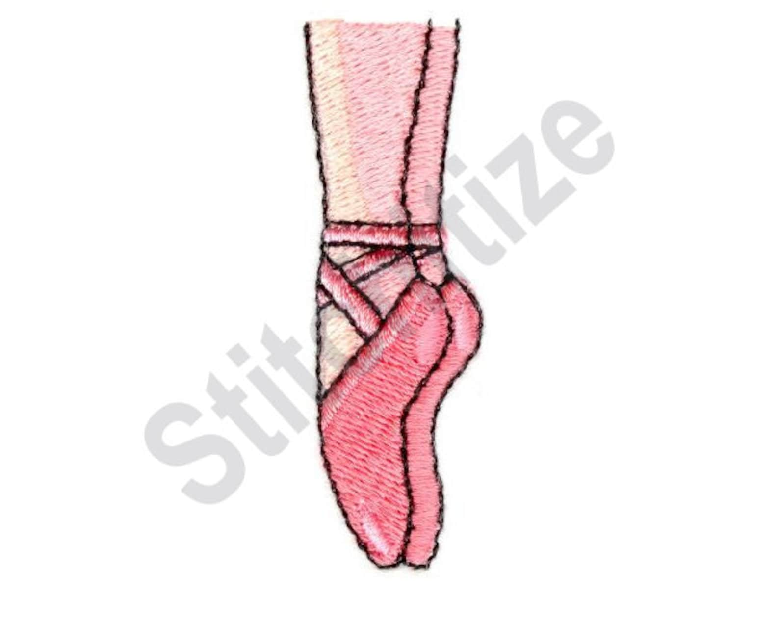 ballerina feet - machine embroidery design, ballet slippers, toe shoes, ballerina