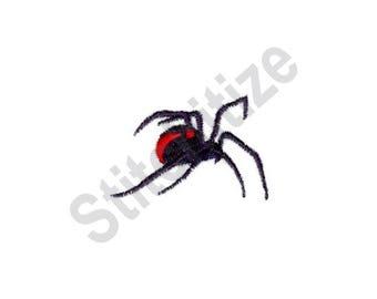 Spider - Machine Embroidery Design, Black Widow