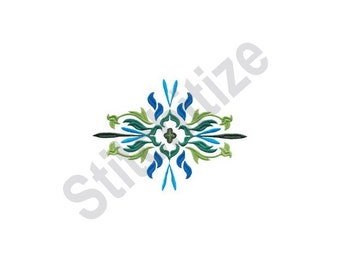 Flower Flourish - Machine Embroidery Design, Floral
