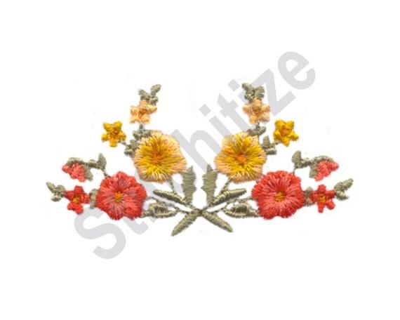 Poppy border machine embroidery design flowers poppies etsy image 0 mightylinksfo