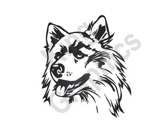 Husky Outline - Machine Embroidery Design 06dc0778d3