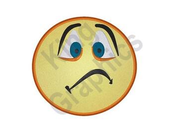 sad face emoji etsy