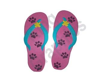 53e1ec8c8aeeb Flip Flops With Paws - Machine Embroidery Design