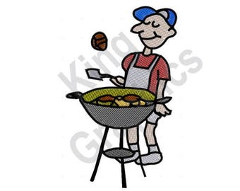 Grill King Machine Embroidery Design