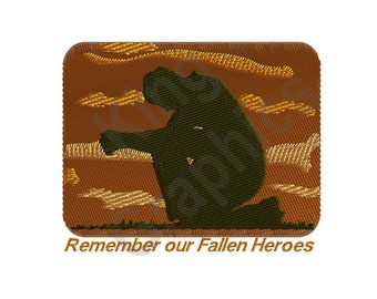 Remember our Fallen Heroes - Machine Embroidery Design, Military, Soldier