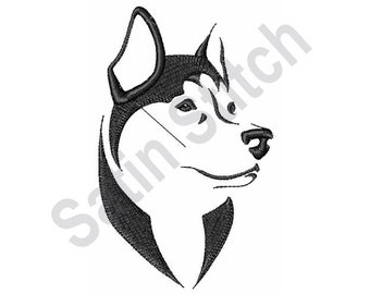 Husky Head Outline - Machine Embroidery Design d89ff5a0bb
