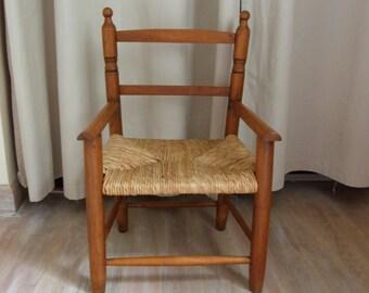 Child Wicker arm chair
