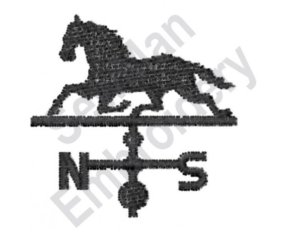 Horse Machine Embroidery Design Weather Vane