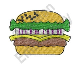 Cheeseburger - Machine Embroidery Design