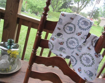 The Happy Hedgehog Baby Bib and Burp Cloth Gift Set