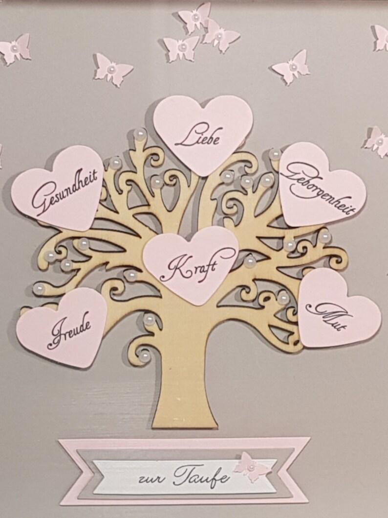 originelles Geschenk Mädchen Taufgeschenk Lebensbaum zur Taufe Bilderrahmen