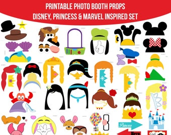 photograph regarding Disney Princess Photo Booth Props Free Printable named Princess picture booth Etsy