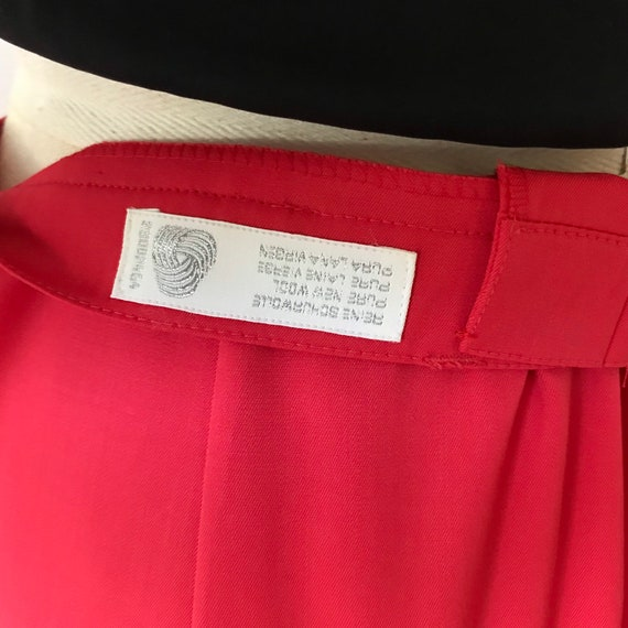 Escada watermelon pink high waisted trousers - image 7