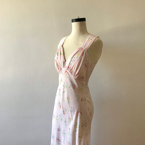 30s floral rayon maxi dress - image 5