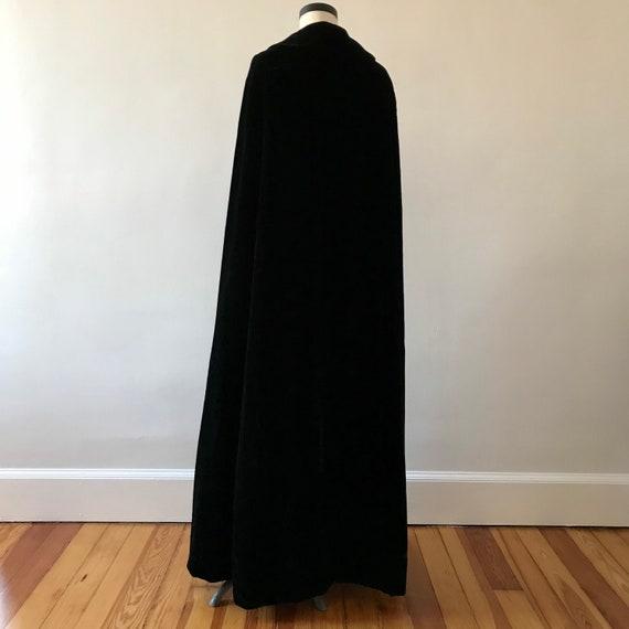 Velvet floor length designer cloak - image 8