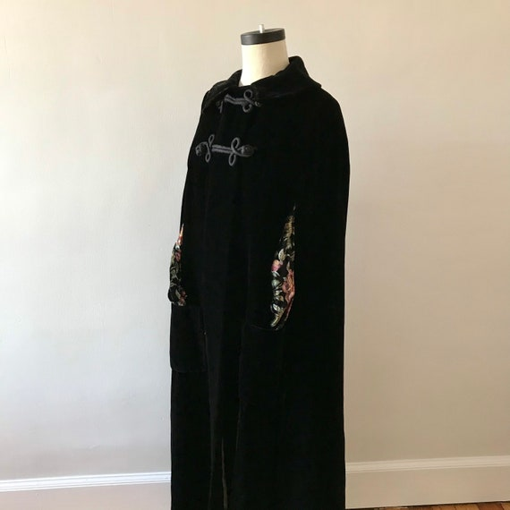 Velvet floor length designer cloak - image 6