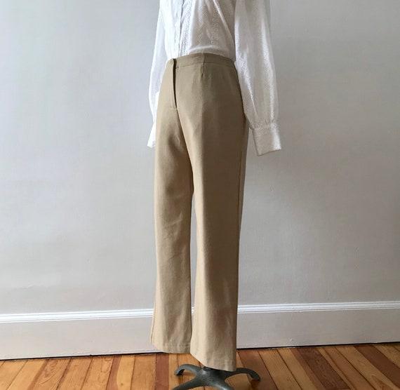 Harve Benard wool rayon blend fawn trousers