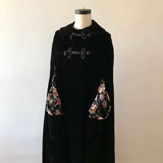 Velvet floor length designer cloak - image 1